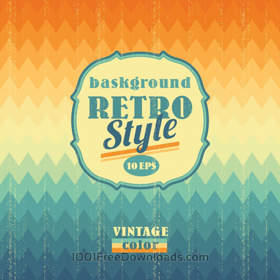 Free Retro geometric background