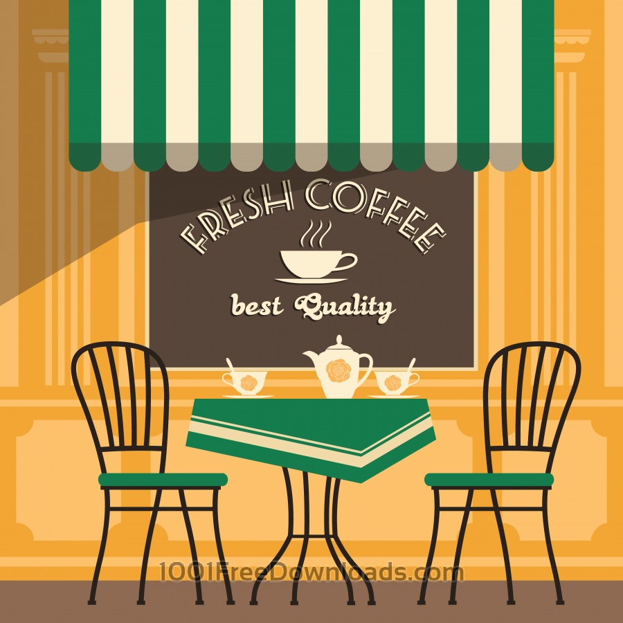 Free Vectors: Illustration of street cafe | Abstract