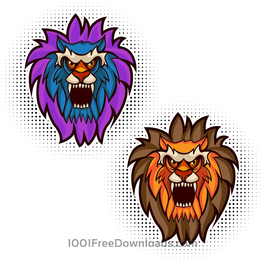 Free Lion vector mascot