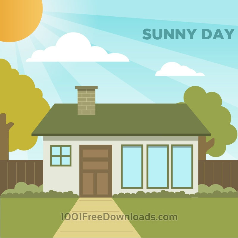 Free Vectors: Sunny Day | Backgrounds
