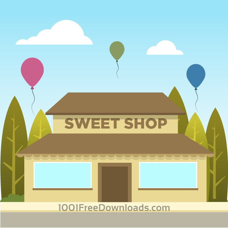 Free Vectors: Sweet Shop | Backgrounds