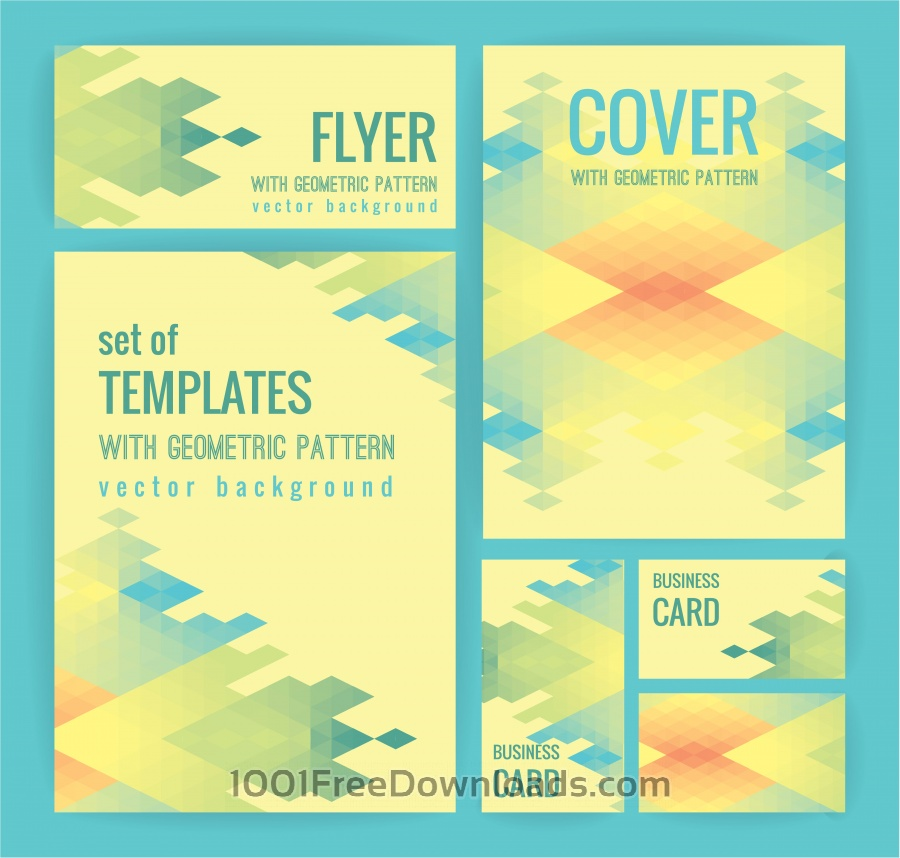 Free Vectors: Set of business  templates with geometric pattern. Vector background. | Abstract