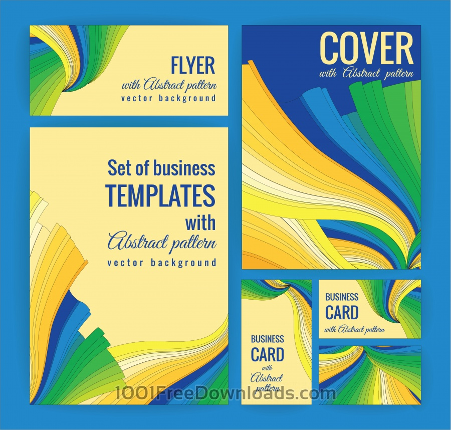 Free Set of business templates with abstract pattern. Vector background.