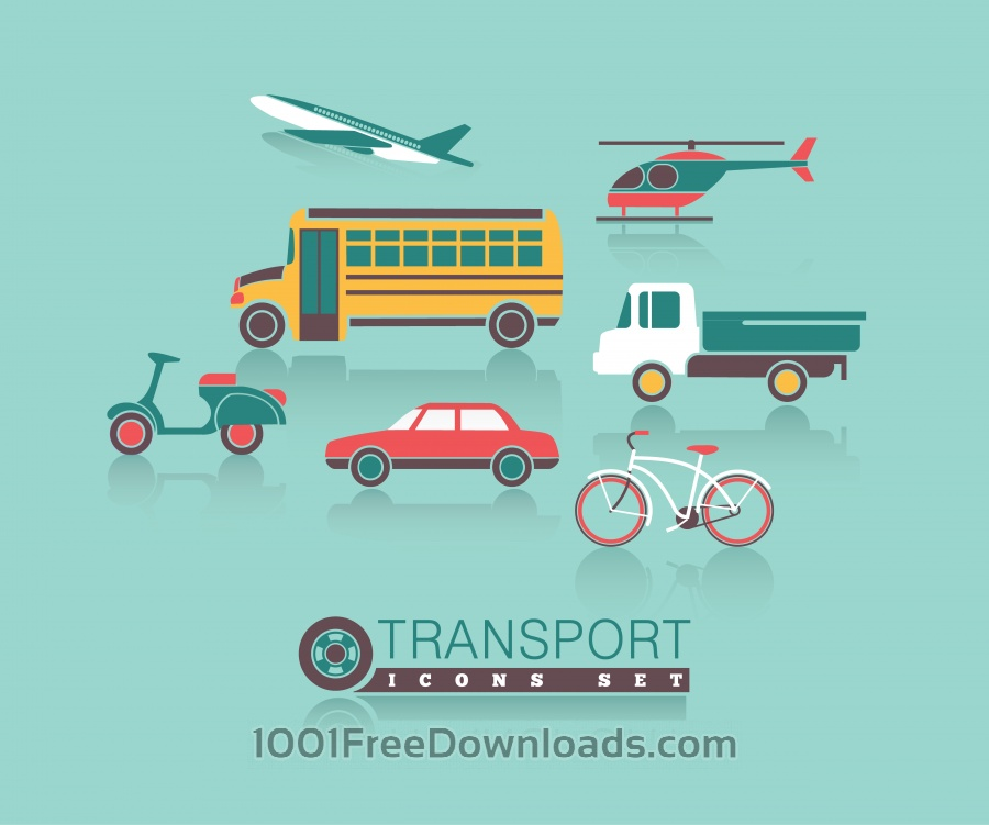 Free Vectors: Transportation icons set | Abstract