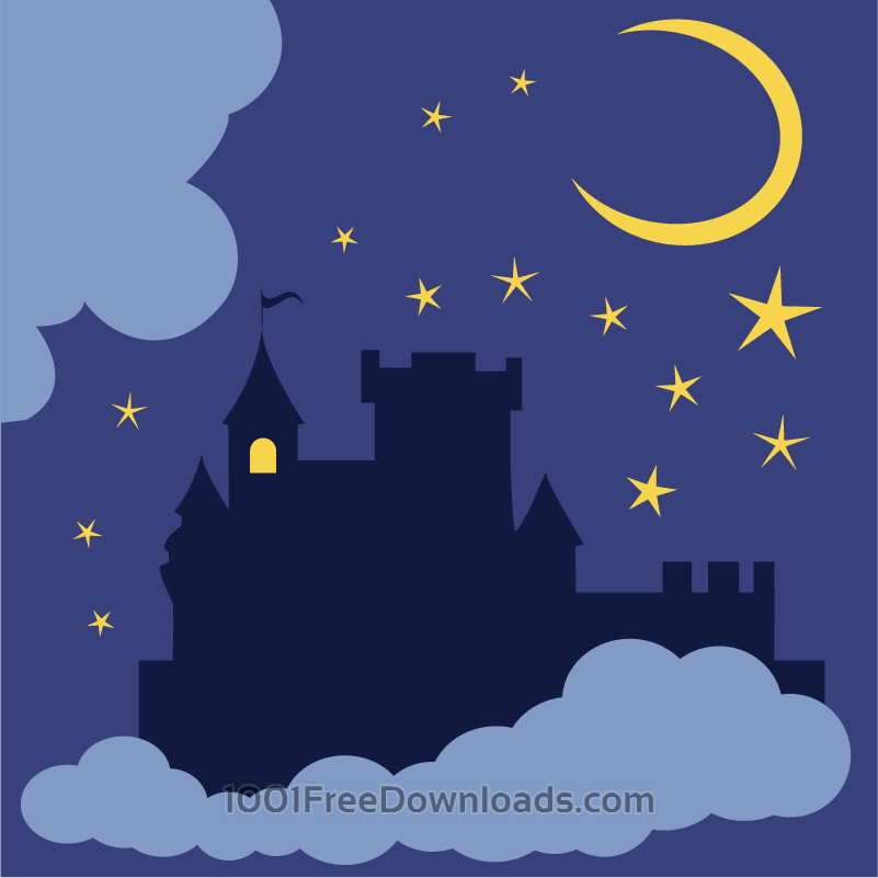 Free Mysterious castle in the night