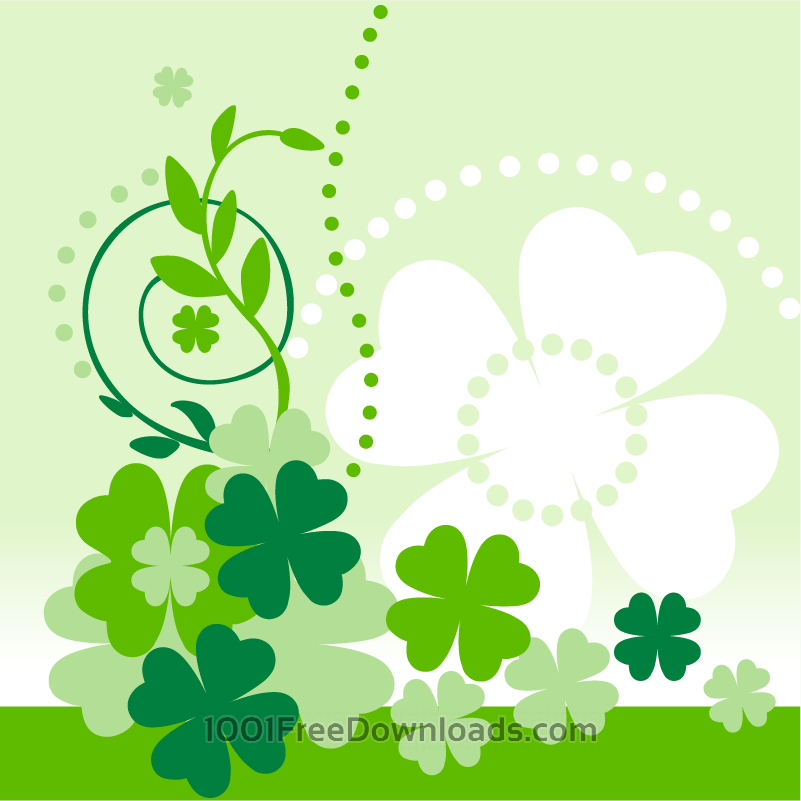 Free Vectors: Clover composition | Flowers