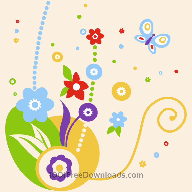 Free Vectors: Colorful flower arrangement | Flowers