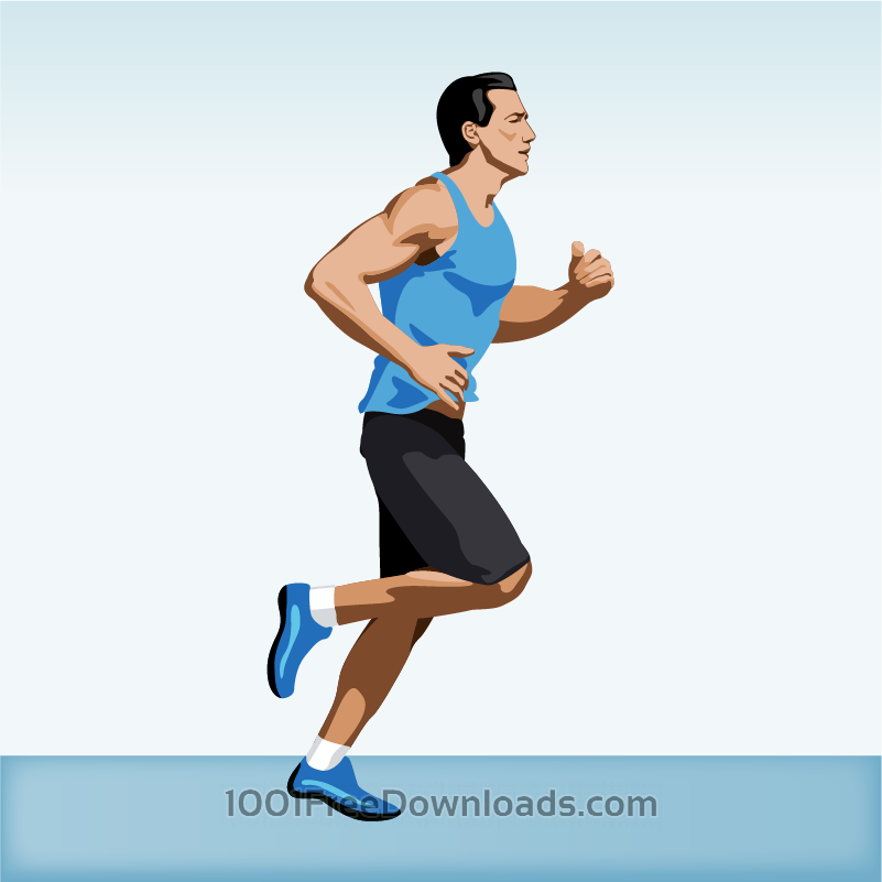 Free Vectors: Man jogging | Cartoons