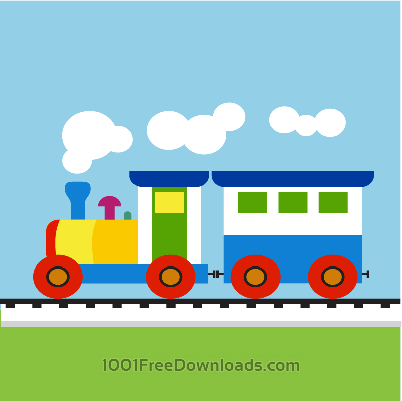 Free Colorful Child train