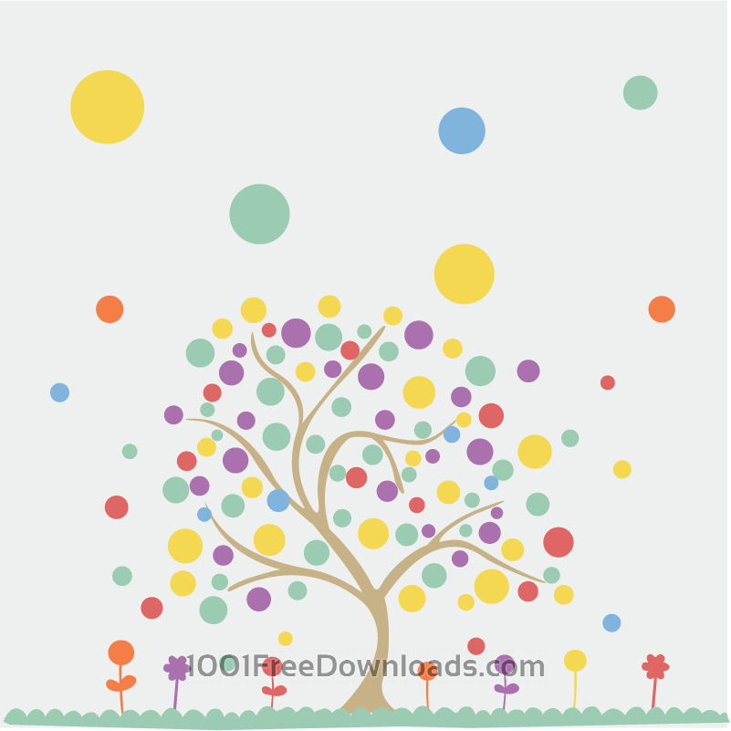 Free Colorful tree