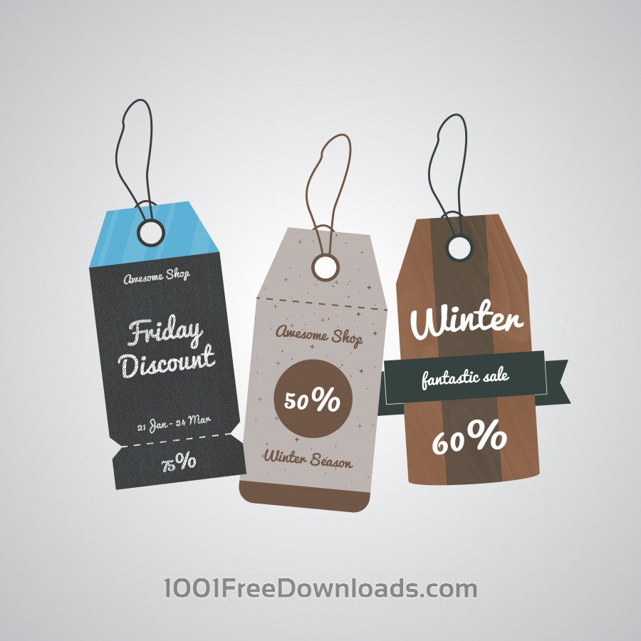Free Vectors: Sale labels tags | Objects