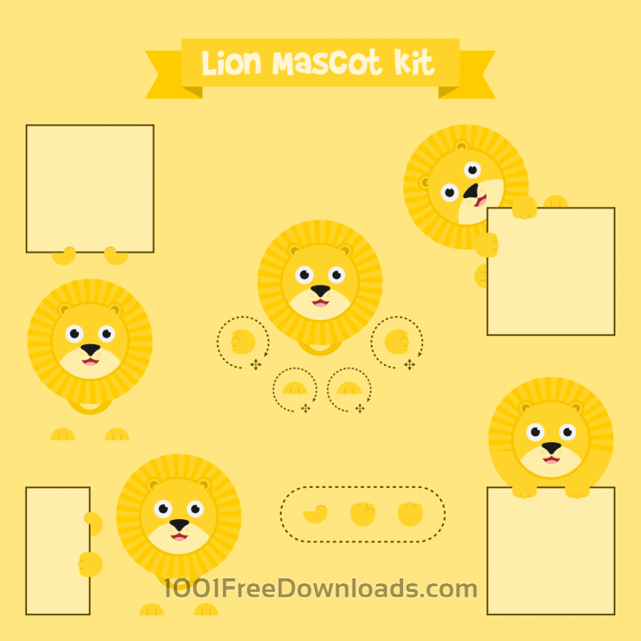 Free Vectors: Lion mascot | Animals