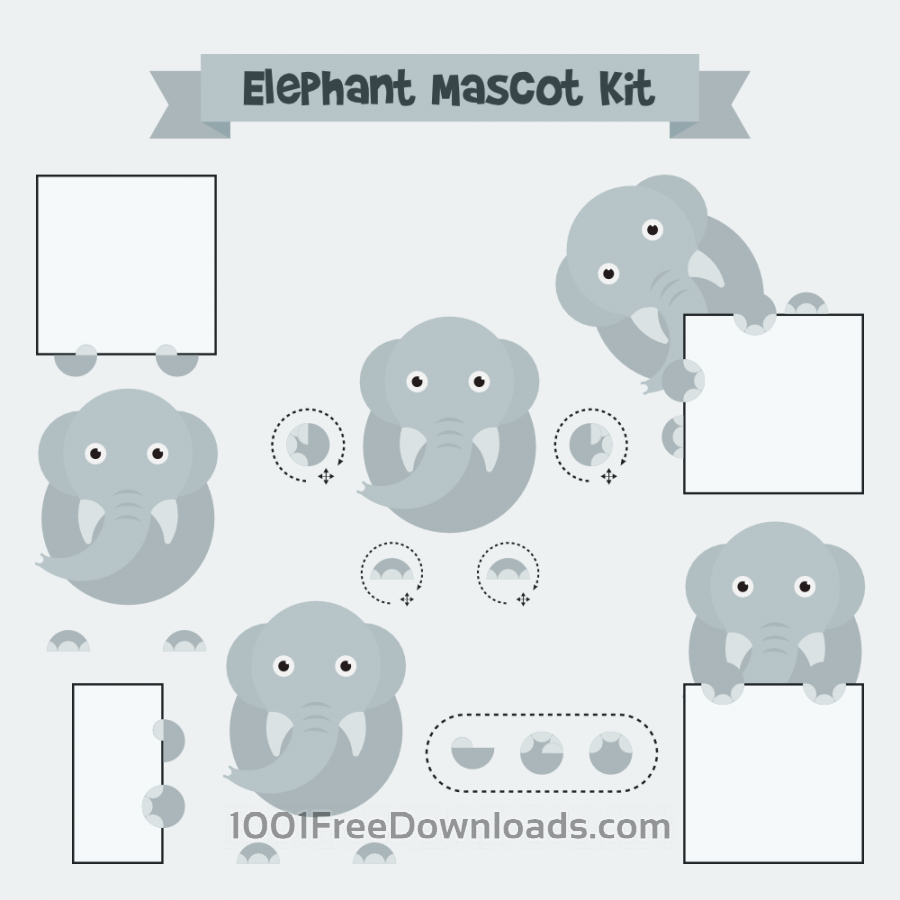Free Vectors: Elephant mascot | Animals