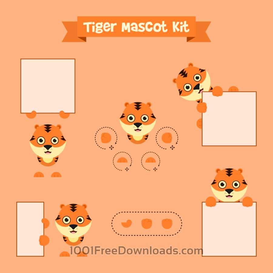 Free Vectors: Tiger mascot | Animals