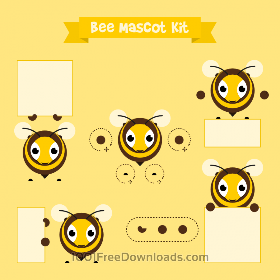 Free Vectors: Bee mascot | Animals