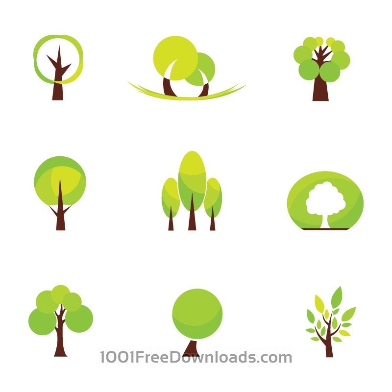 Free Vectors: Abstract Tree Icons | Abstract