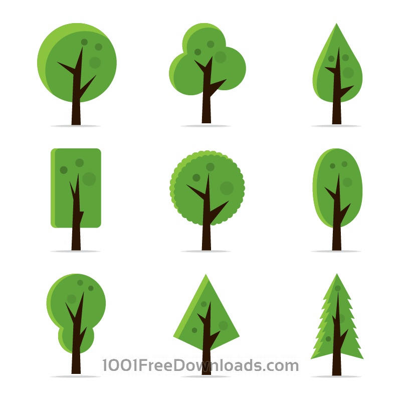 Free Abstract Tree Icons
