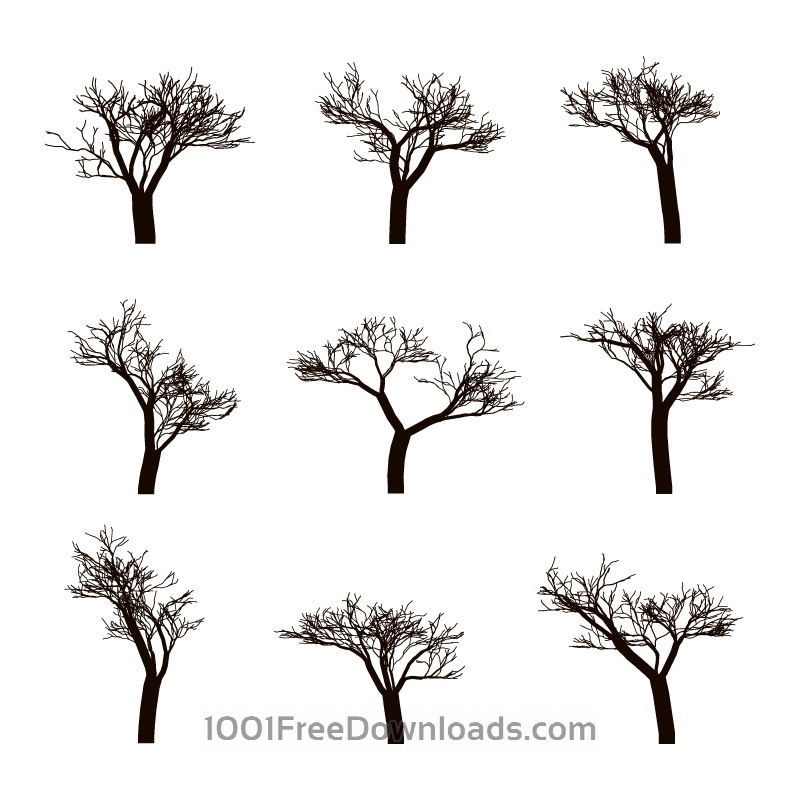 Free Vectors: Dead trees Silhouettes | Abstract