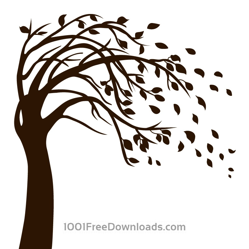 Free Vectors: Isolated Black Tree | Abstract