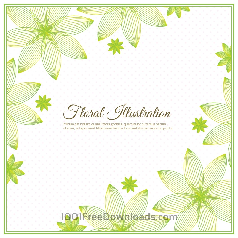 Free Vectors: Floral background illustration  | Abstract