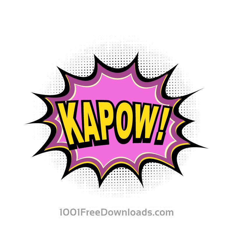 Free Vectors: Comic Book Explosion, Kapow | Abstract