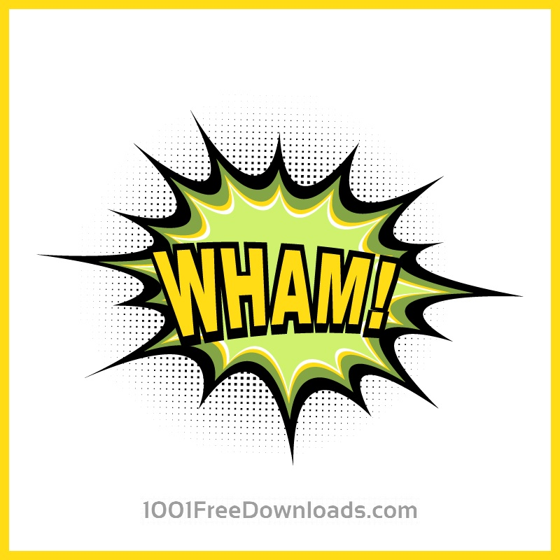Free Vectors: Comic book explosion, wham | Abstract