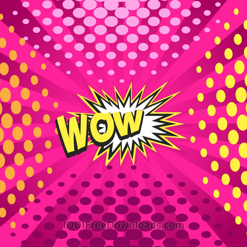 Free Vectors: Comic book explosion illustration, wow word | Abstract