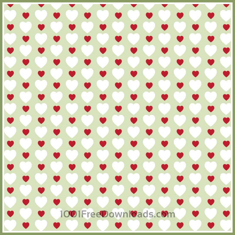 Free Vectors: Hearts Pattern | Abstract