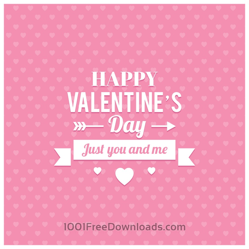 Free Vectors: Happy Valentine's Day Illustration | Abstract