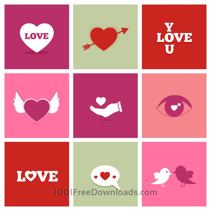 Free Vectors: Valentine's Day Icons | Abstract