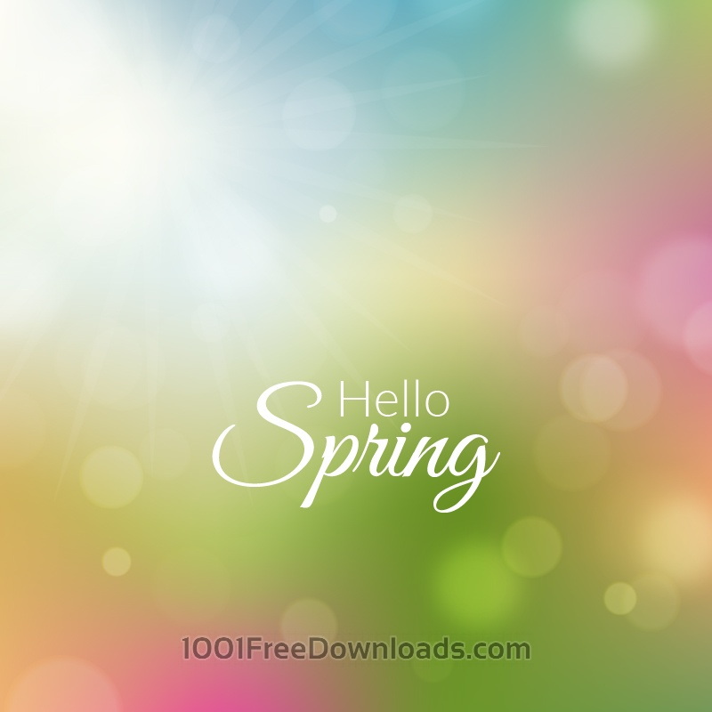 Free Spring background