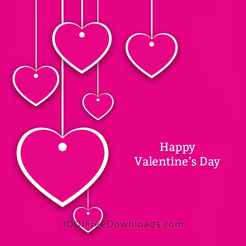 Free Valentine's Day Hearts Card