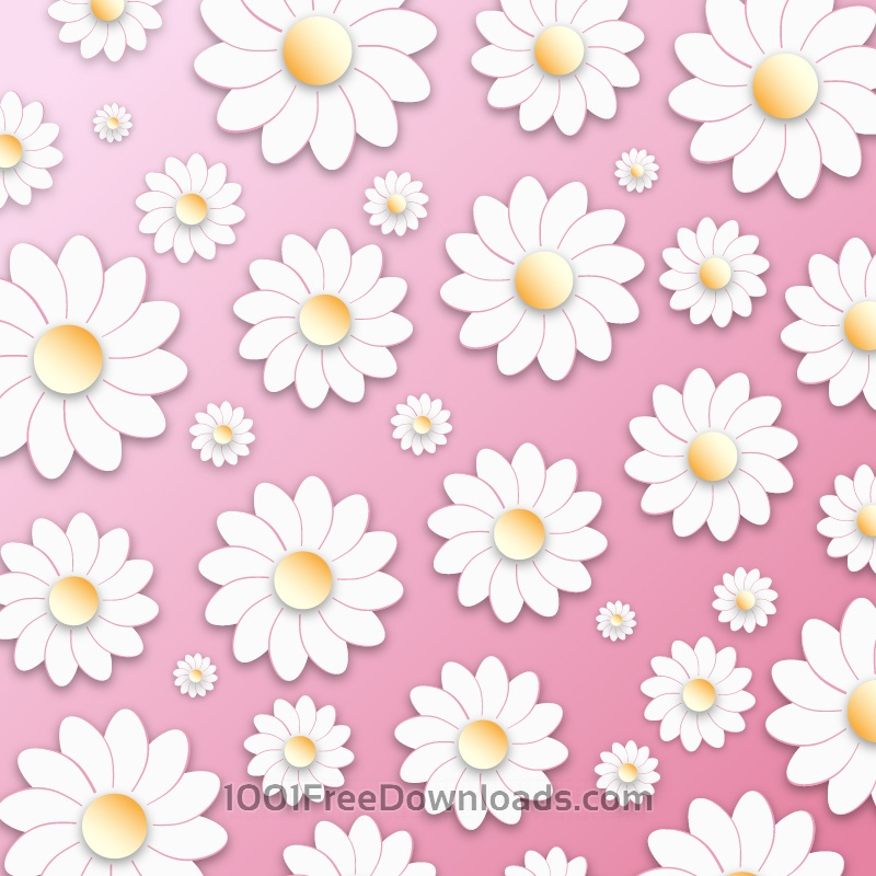 Free Vectors: Floral 3D Pattern | Abstract