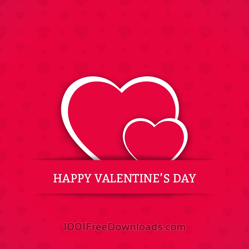 Free Vectors: Valentine's Day Card with Hearts | Abstract