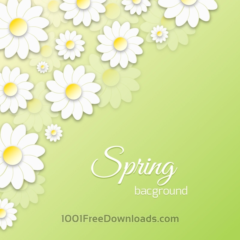 Free Vectors: Spring Floral 3D Illustration | Abstract