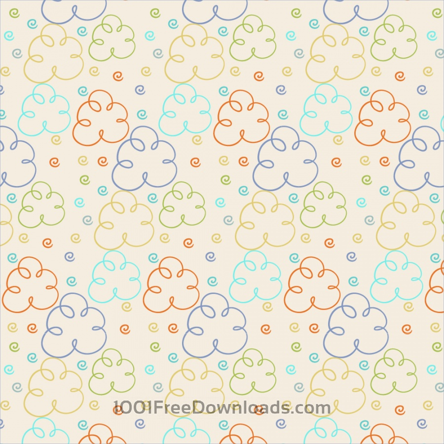 Free Vectors: Cute pattern with clouds | Backgrounds