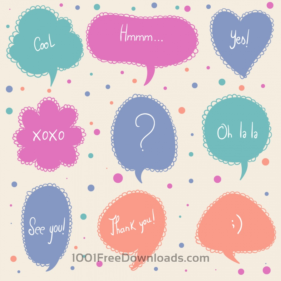 Free Vectors: Doodle frames | Abstract