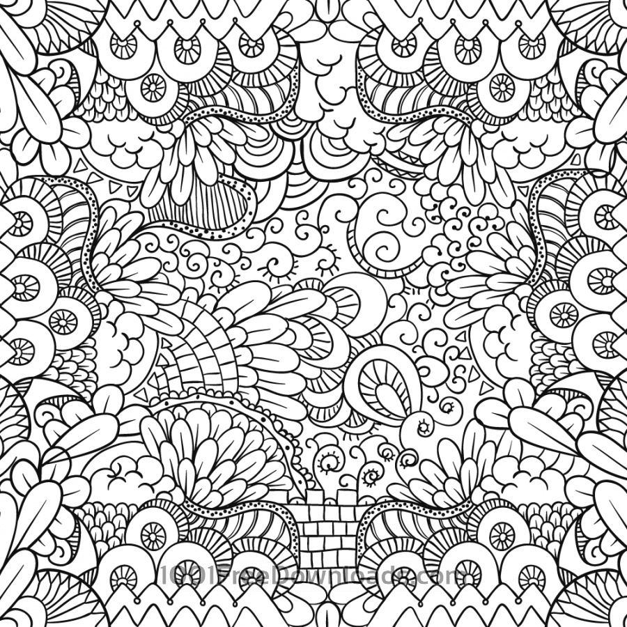 Free Doodle abstract background