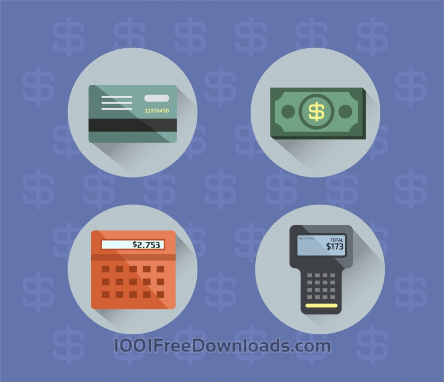 Free Money objects for design. Vector illustration
