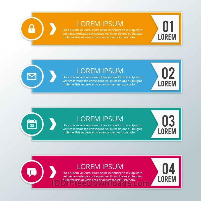 Free Vectors: Modern business infographic steps | Abstract