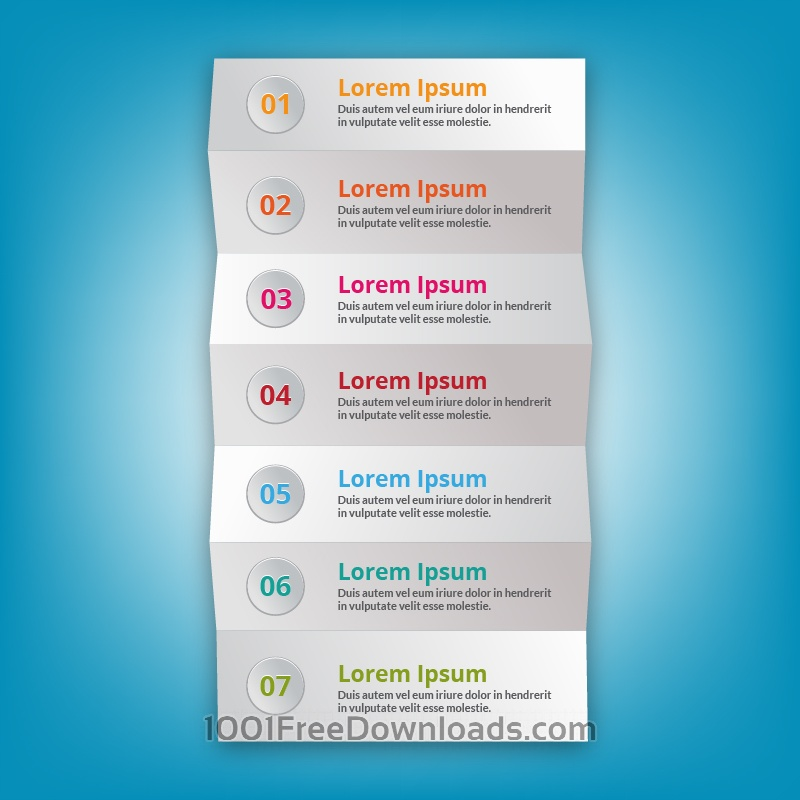 Free Modern business step folded paper style
