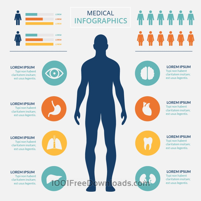 Free Medical healtcare infographic