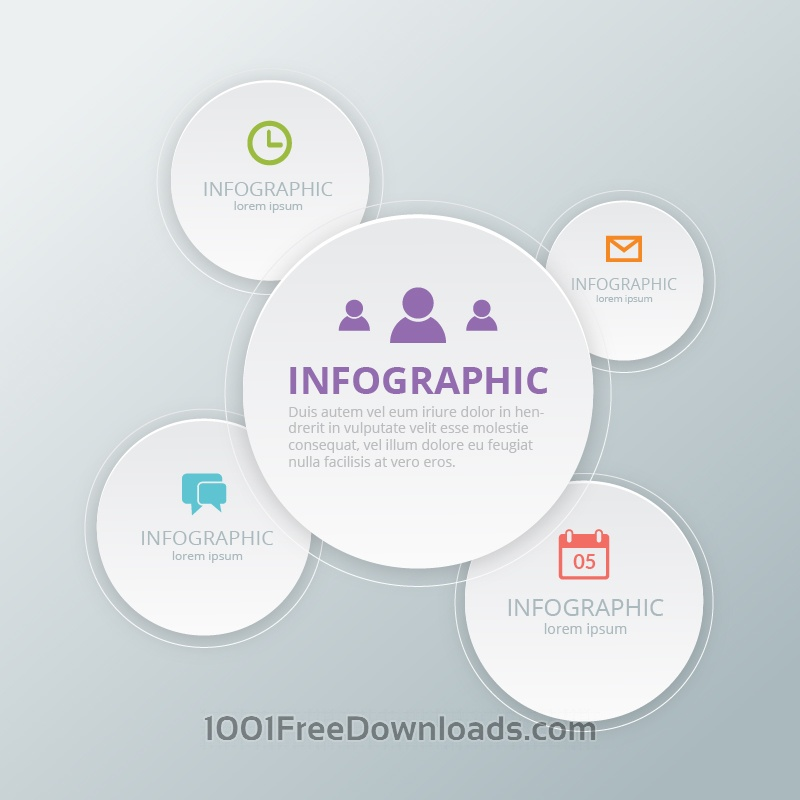 Free Vectors: Social Media Infographic Template | Abstract