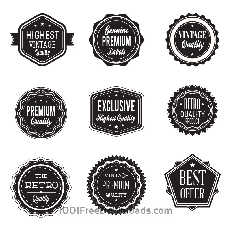 Free Retro labels. Vintage labels collection