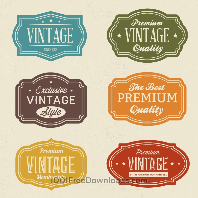 Free Vectors: Vintage labels set | Abstract