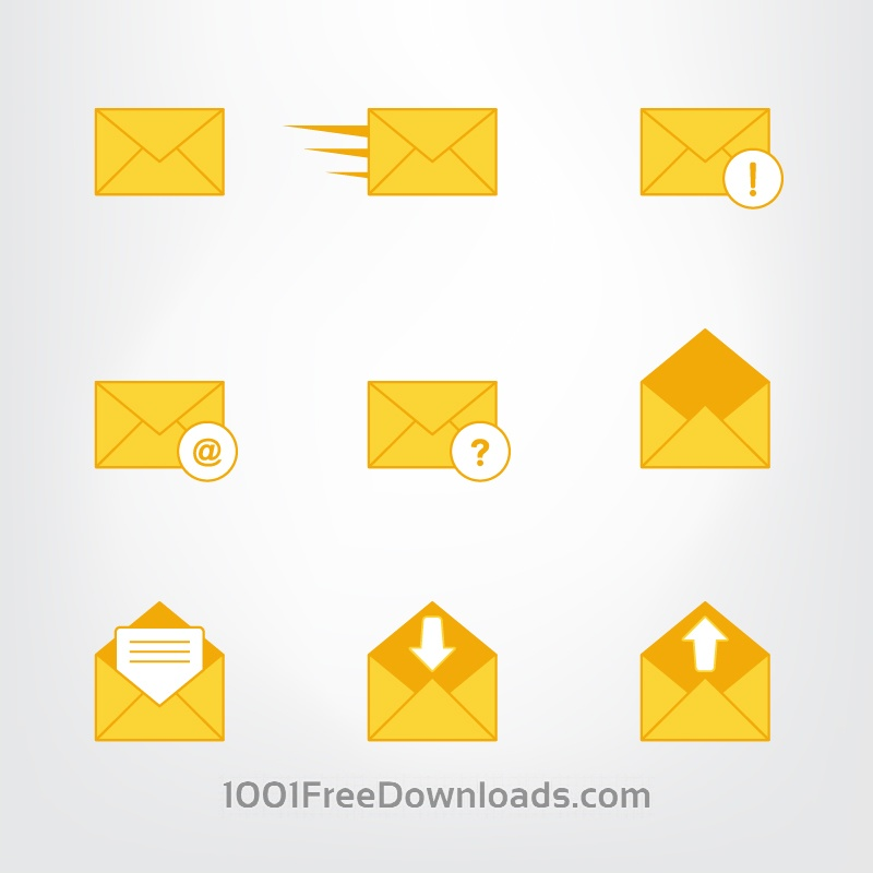 Free Vectors: Letter, mail symbols and pictograms | Icons