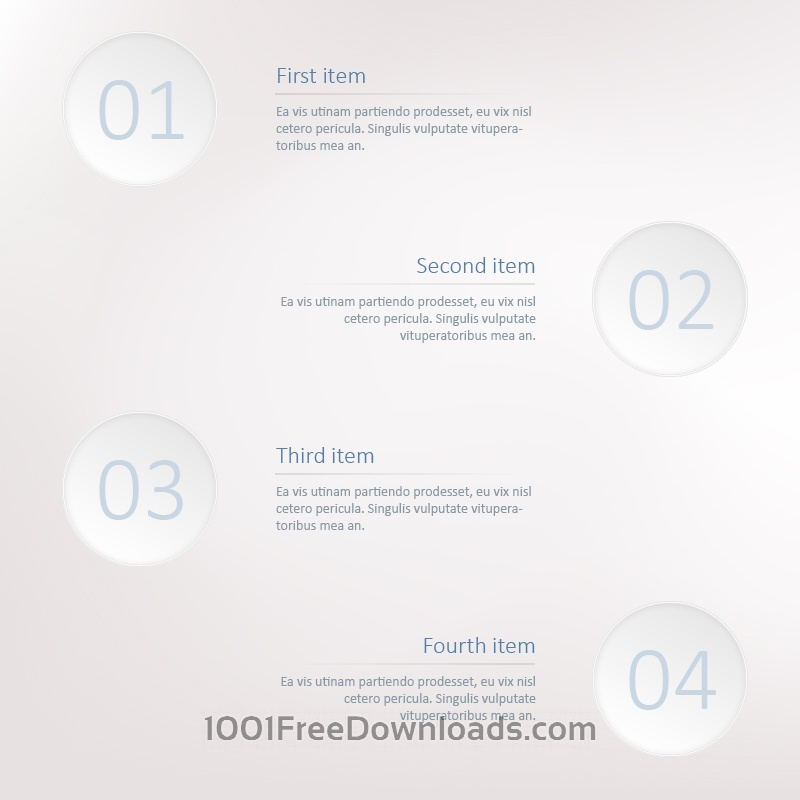 Free Infographic steps template