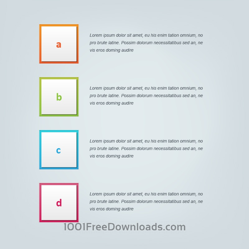 Free Infographic vector design for workflow, steps