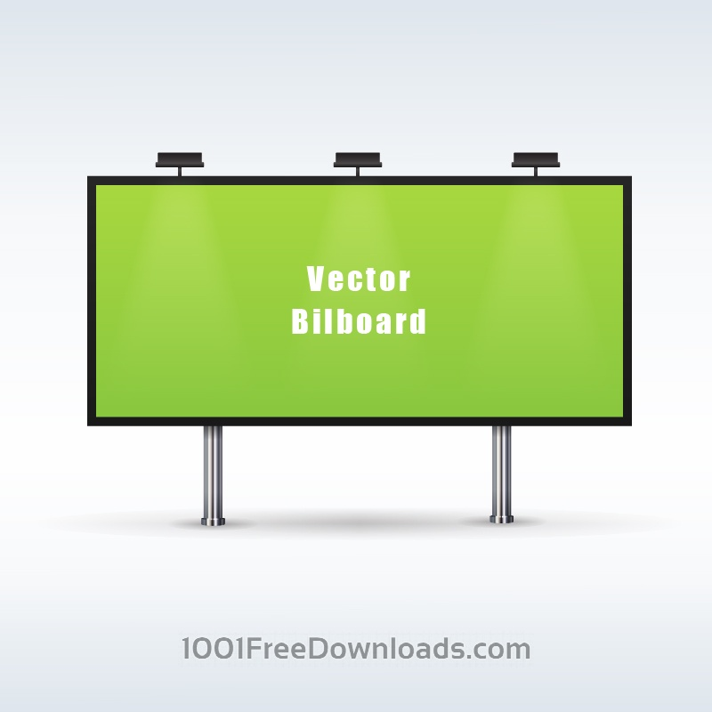 Free Vectors: Outdoor billboard advertising | Objects