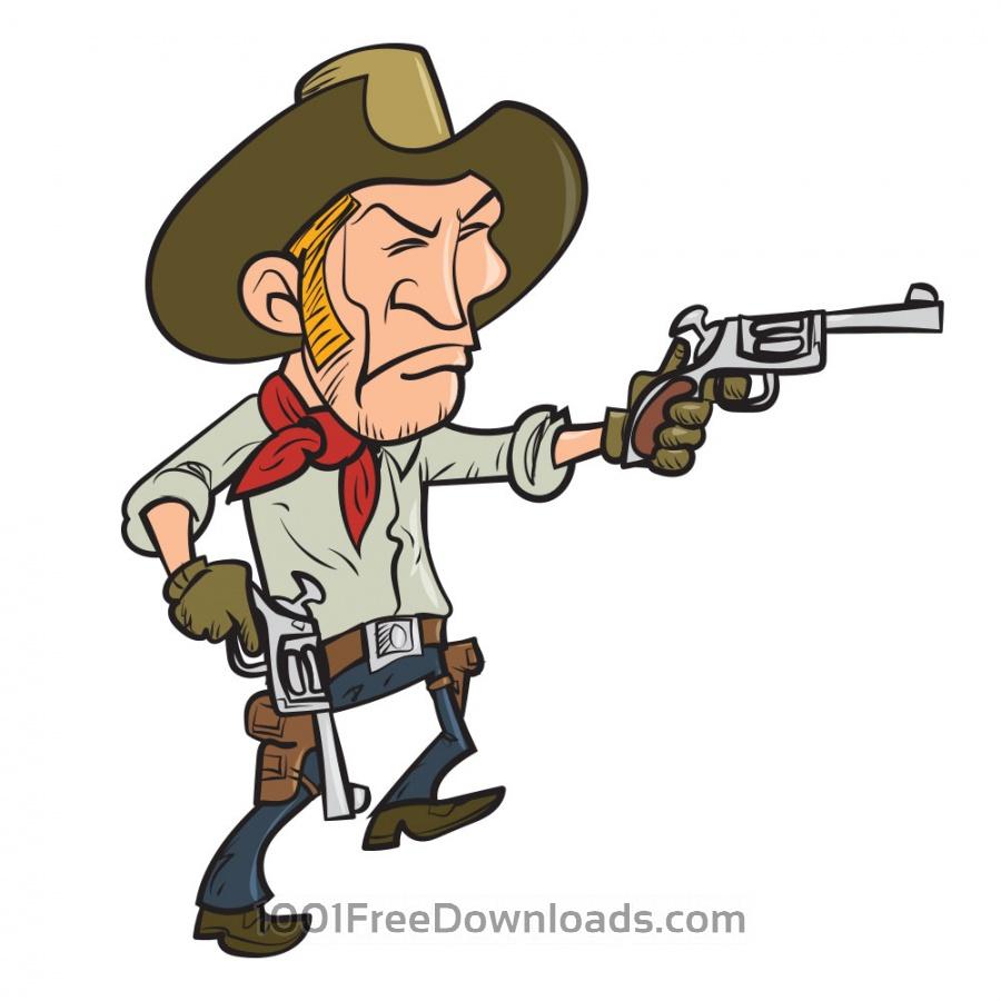 Free Cowboy with guns